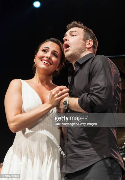 Metropolitan Opera singers mezzosoprano Isabel Leonard and tenor Stephen Costello perform 'One hand one heart' from Leonard Bernstein's 'West Side...