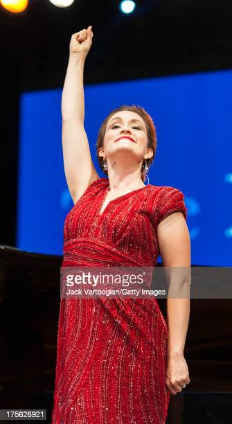 Metropolitan Opera soprano Erin Morley sings 'Chacun le sait' from Gaetano Donizetti's 'La Fille du Regiment' at the fifth annual seasonopening...