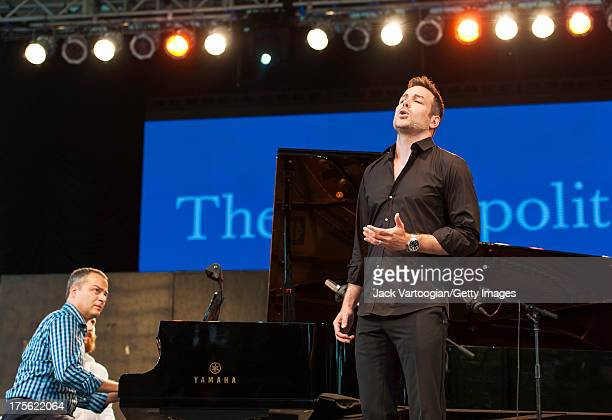 Metropolitan Opera tenor Stephen Costello with Bradley Moore at the piano sings an aria from Charles Gounod's 'Faust' at the fifth annual...
