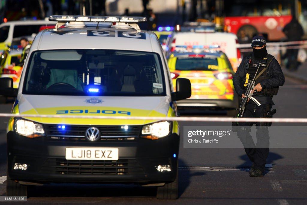 Man Shot By Police On London Bridge Following Stabbing : News Photo