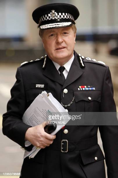 Metropolitan Police Chief Commissioner Sir Ian Blair arrives for the start of an extraordinary meeting of the full Metropolitan Police Authority to...
