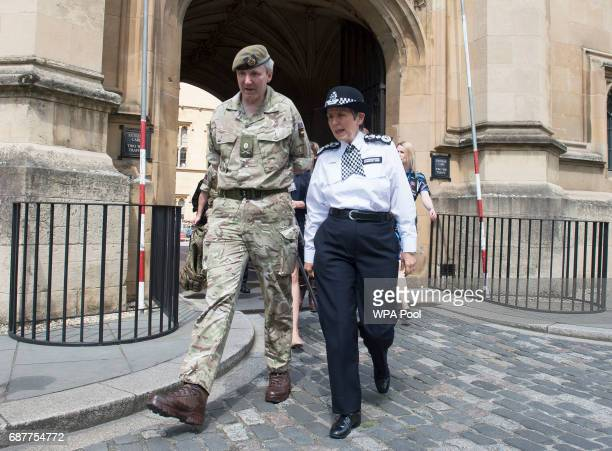 Metropolitan Police Commissioner Cressida Dick and Major General Ben Bathhurst General Officer Commanding London District after meeting soldiers and...