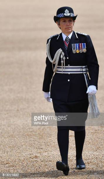 Metropolitan Police Commissioner Cressida Dick arrives at the Horse Guards Parade on July 12 2017 in London England This is the first state visit by...