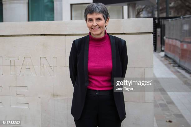 Metropolitan Police Commissioner Cressida Dick poses outside the Curtis Green Building the new home of the Metropolitan Police on February 22 2017 in...
