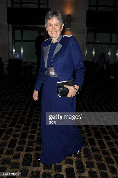 Metropolitan Police Commissioner Cressida Dick seen leaving the LGBT Awards in Mayfair on May 17 2019 in London England