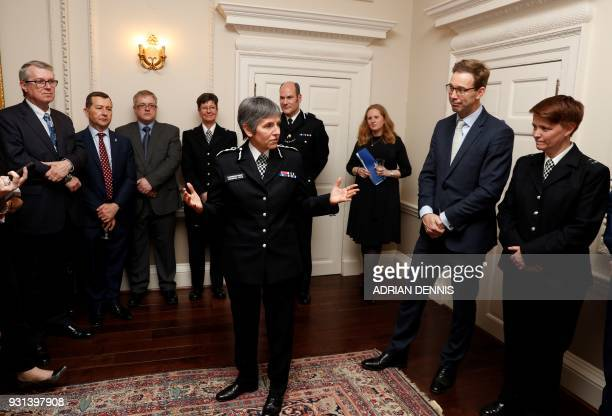 Metropolitan Police Commissioner Cressida Dick thanks attendees including MP Tobias Ellwood who recieved a bravery award in recognition for his...