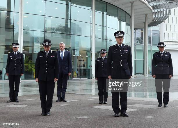 Metropolitan Police Commissioner Dame Cressida Dick and her colleagues Assistant Commissioner Nick Ephgrave Robin Wilkinson Chief of Corporate...