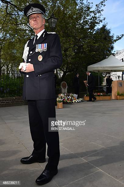 Metropolitan Police Commissioner Sir Bernard HoganHowe addresses the media following a remembrance service to mark the 30th anniversary of the fatal...