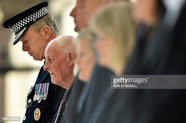 Metropolitan Police Commissioner Sir Bernard HoganHowe attends a remembrance service to mark the 30th anniversary of the killing of British police...