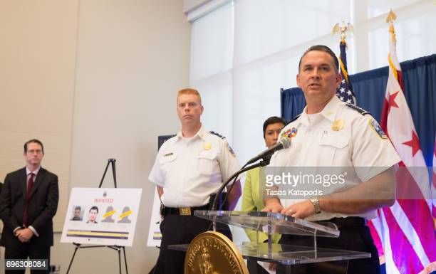 Metropolitan Police Department, Chef of Police Peter Newsham speaks at press conference on June 15, 2017 in Washington, DC. Bowser spoke on the...