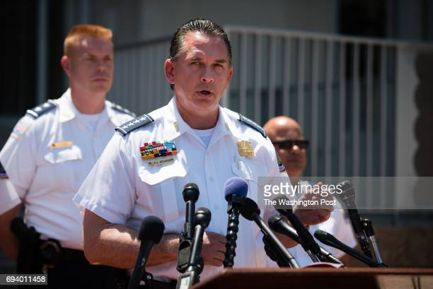 Metropolitan Police Department Chief of Police Peter Newsham spoke during a press conference in front of 300 Indiana Ave NW on Wednesday May 17 2017...