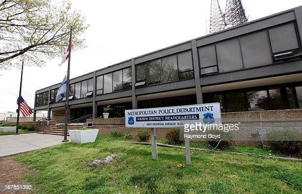 Metropolitan Police Department Fourth District Headquarters in Washington D C on APRIL 19