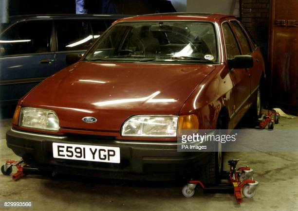 Metropolitan Police issued photograph of Ford Sierra index no E591 YGP purchased on 17 February 1994 to facilitate the mortar attack on Heathrow...