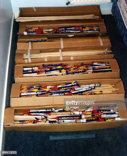Metropolitan police issued picture showing fireworks found in David Copeland's bedroom At the end of a 4 week trial at the Old Bailey Copeland an...