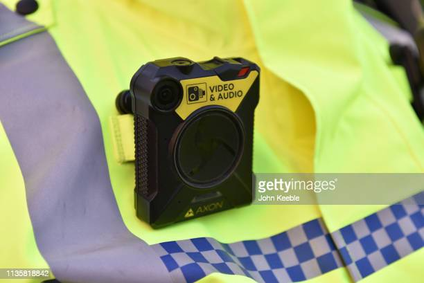 Metropolitan Police officer's Body Worn Video camera is worn on their chest on March 14, 2019 in London, England.