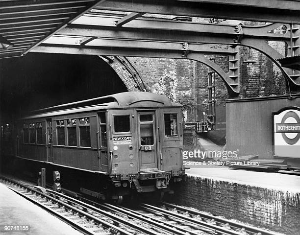 Metropolitan Railway K motor car emerges from the Thames Tunnel From Rotherhithe to Wapping the Thames Tunnel was the first underwater tunnel and the...