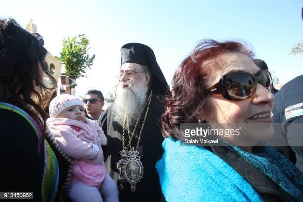 Metropolitan Venediktos of Philadelphia leads a few thousand Orthodox Christian pilgrims attending as Orthodox Christian celebrate Epiphany in the...