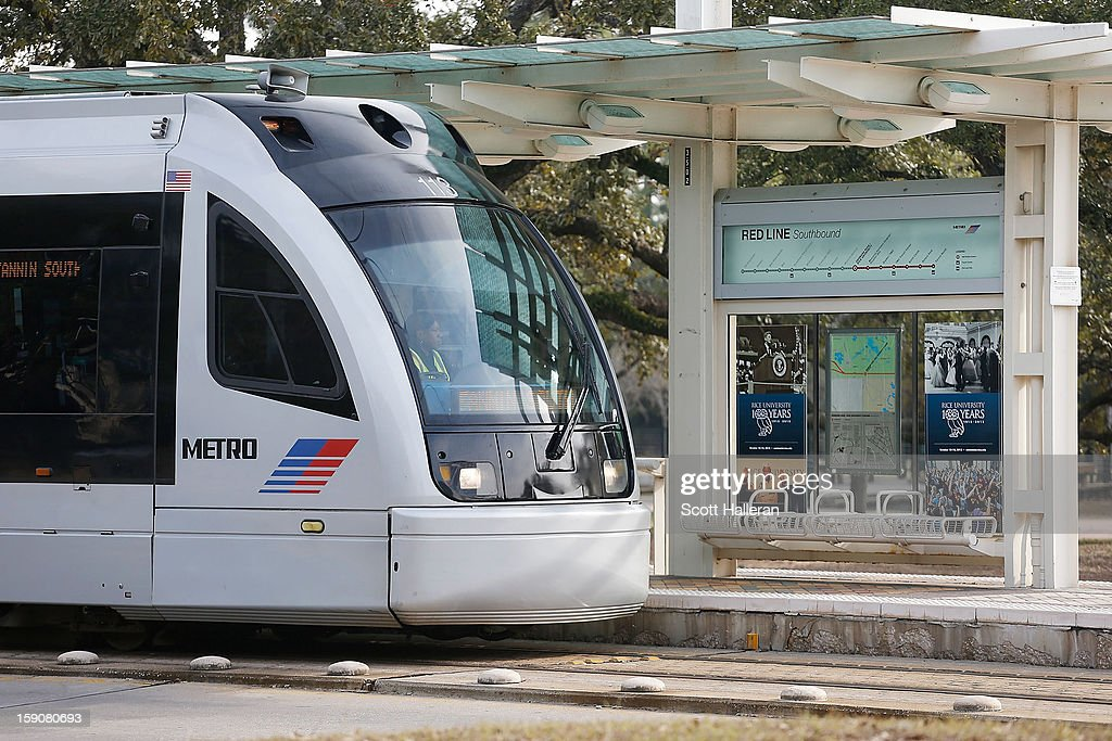 A METRORail train and station are seen in the museum district on January 7, 2013 in Houston, Texas. Houston's success with job growth in recent years has placed the city among the top markets in the country for elevated income levels, according to reports.