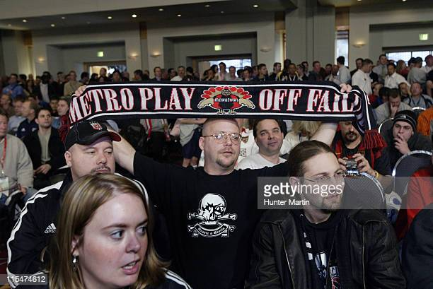 A MetroStars fan shows his allegiance at the MLS Super Draft 2006 Pennsylvania Convention Center Philadelphia Pa Friday January 20th 2006