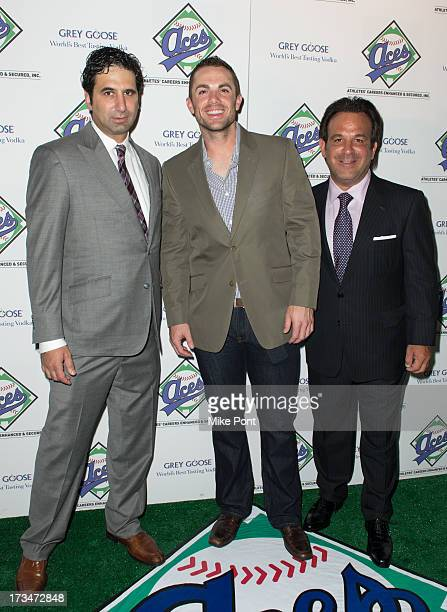 Mets Baseball Player David Wright Aces owner Sam Levinson and guest attend the ACES Annual All Star Party at Marquee on July 14 2013 in New York City