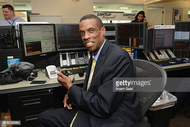 Mets Legend Dwight Gooden attends the Annual Charity Day hosted by Cantor Fitzgerald BGC and GFI at Cantor Fitzgerald on September 12 2016 in New...
