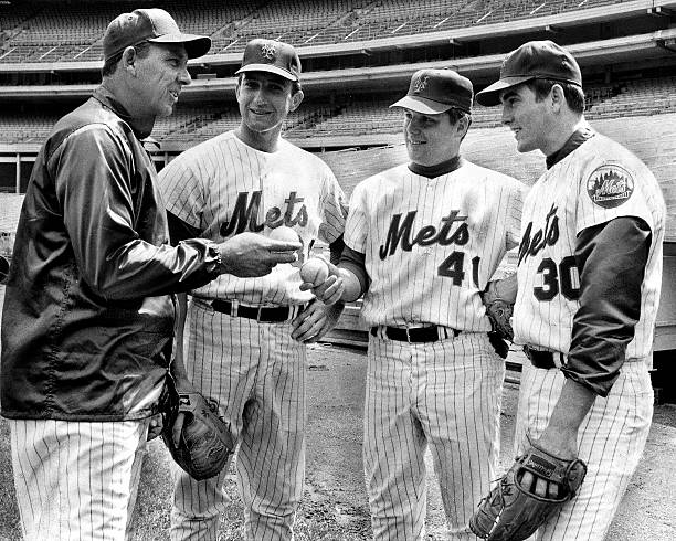 N.Y. Mets manager Gil Hodges sports a smile, and who wouldn'