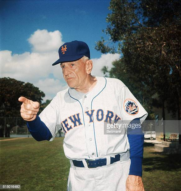 Mets Skipper Casey Stengel Pointing at Spring Training