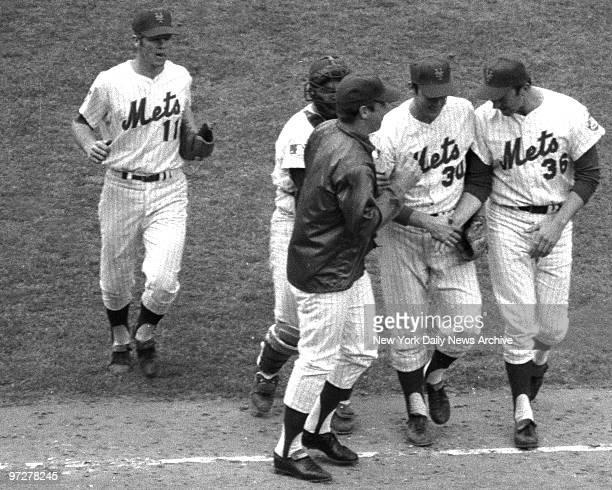 Y Mets vs Baltimore Orioles 1969 World SeriesNY Mets vs Baltimore Orioles 1969 World Series Game 3 Happy Mets wear big grins as they walk off field...