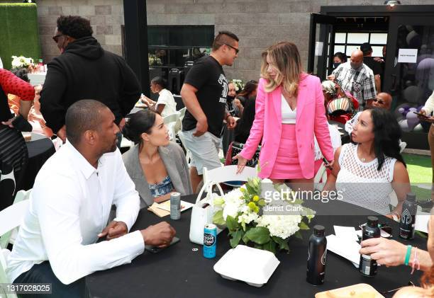 """Metta Sandiford-Artest, Maya Ford, Tammy Brook and Lakiha """"Kiki"""" Spicer attend the 100 Women Matter Luncheon hosted by We2Matter and Dream Corps..."""