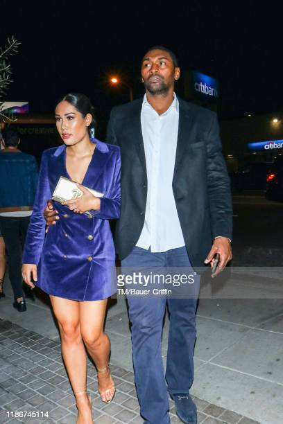 Metta World Peace and Maya Ford are seen on December 06 2019 in Los Angeles California
