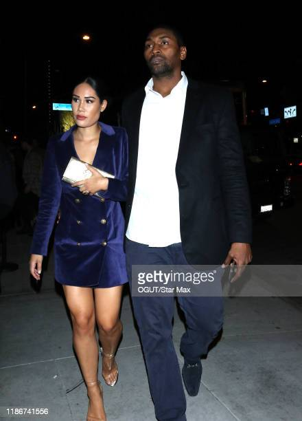 Metta World Peace and Maya Ford are seen on December 5 2019 in Los Angeles California