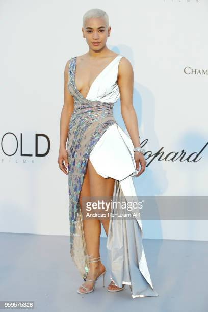 Mette Towley arrives at the amfAR Gala Cannes 2018 at Hotel du CapEdenRoc on May 17 2018 in Cap d'Antibes France