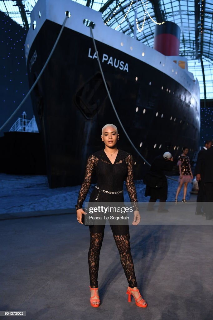 Mette Towley attends the Chanel Cruise 2018/2019 Collection at Le Grand Palais on May 3, 2018 in Paris, France.