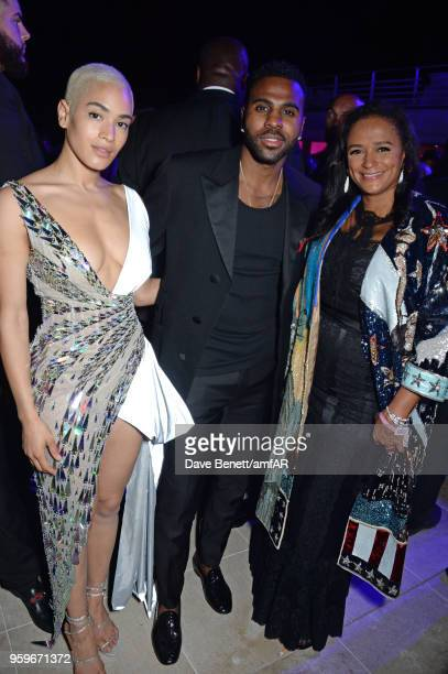 Mette Towley Jason Derulo and Isabel dos Santos attend the amfAR Gala Cannes 2018 after party at Hotel du CapEdenRoc on May 17 2018 in Cap d'Antibes...