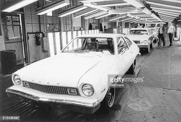 Ford Motor Company's newest economy car the Pinto Pony MPG comes off the production line at the company's plant here EPA test rated at 38 miles per...