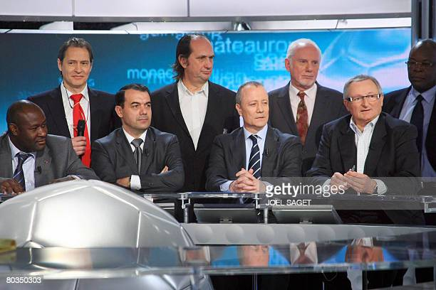 Metz' football team president Christian Lagnide Paris St Germain delegate Eric Pecout Sedan's director Serge Marchetti Amiens' president Francis...