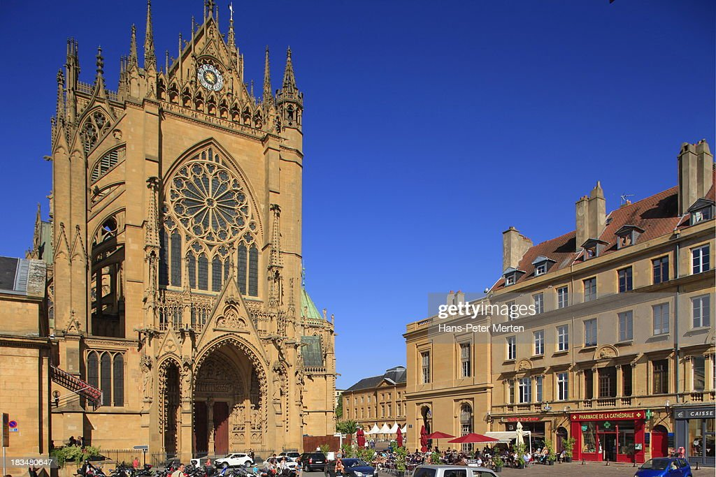 metz france cathedral old town stock photo getty images. Black Bedroom Furniture Sets. Home Design Ideas