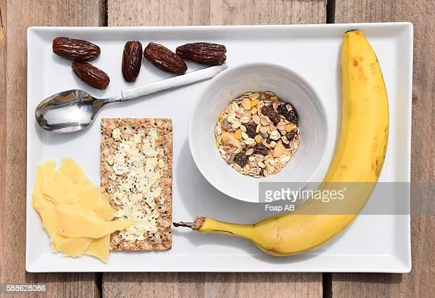 Meusli bar with banana