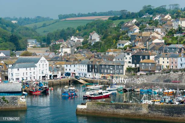 mevagissey fishing village in cornwall uk - mevagissey stock photos and pictures