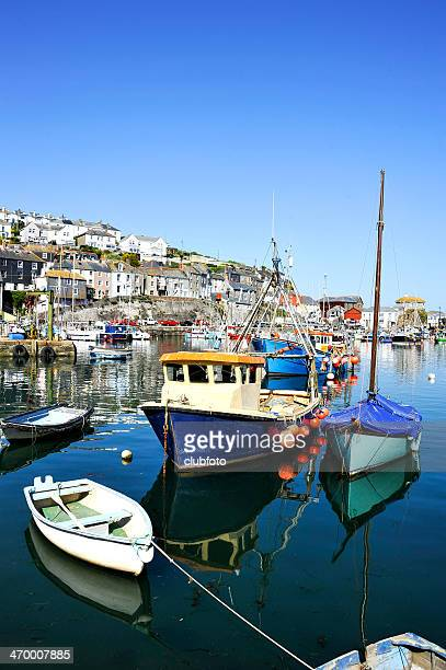 mevagissy in cornwall, england, uk - mevagissey stock photos and pictures