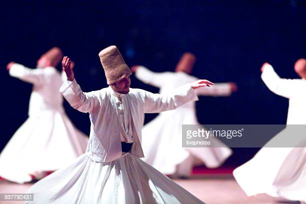 mevlana ceremony - sufism stock photos and pictures