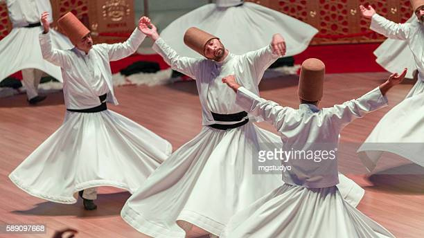 mevlana-semazen - sufism stock photos and pictures