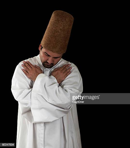 mevlevi sufi  dervish - sufism stock photos and pictures