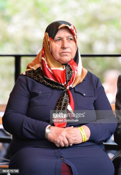 Mevlude Genc mother and grandmother of some of the victims during the commemoration of the arson attack on the house of the Turkish Genc family 25...