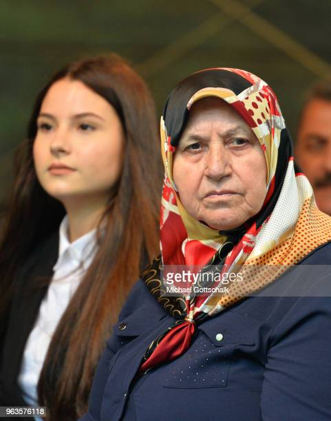 Mevlude Genc mother of two victims during the commemoration of the arson attack on the house of the Turkish Genc family 25 years ago on May 29 2018...