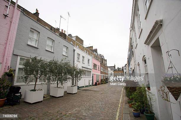 Mews buildings to the rear of Tony Blair's new London home in Connaught Square on April 27 2007 in London Blair won't announce a schedule for his...