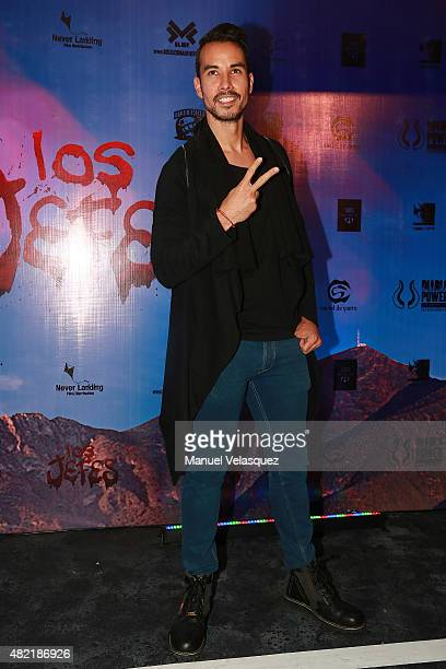 Mexican actor Alejandro Sandi poses for pictures during Los jefes film red carpet at Cinemex Patriotismo Cinema on July 27 2015 in Mexico City Mexico