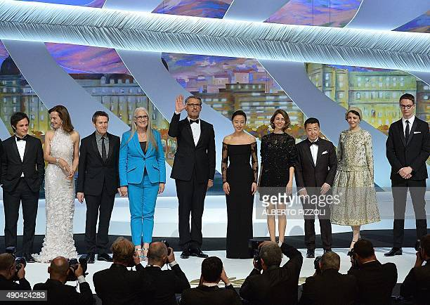 Mexican actor and director and member of the Feature films Jury Gael Garcia Bernal French actress and member of the Feature films Jury Carole Bouquet...