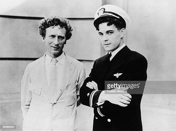 Mexican actor and star of the film 'The Flying Fleet' Ramon Novarro with the AustralianAmerican musical composer and pianist Percy Aldridge Grainger