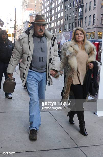 Mexican Actor Andres Garcia and his girlfriend walk after shopping March 3 2007 in New York City